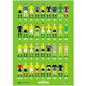 'Home International Greats' A2 poster by the Art of Goalkeeping